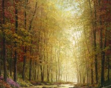 fine art edition on canvas titled colors of autumn by charles pabst