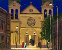 Original Oil painting by artist Charles Pabst titled St Francis