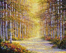 Original Oil painting by artist Charles Pabst titled Wondrous Light