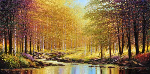 fine art limited edition titled silent woods by charles pabst