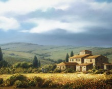 fine art limited edition titled vineyard villa by charles pabst