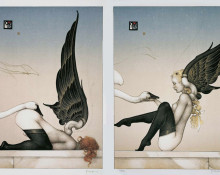 Almost Fallen Angels by Michael Parkes