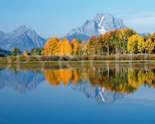 Jon Paul - Oxbow Bend Fall Reflection Panorama
