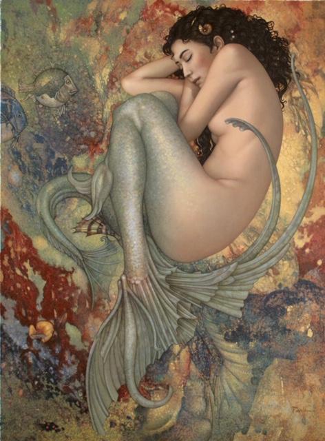 Michael Parkes - Sleeping Mermaid