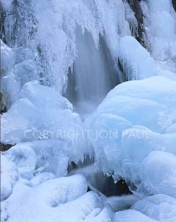 Untitled Frozen Waterfall, Lake Tahoe